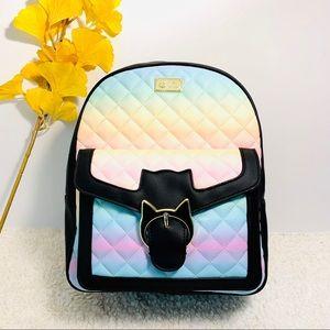 NWT Betsey Johnson Large Rainbow Backpack